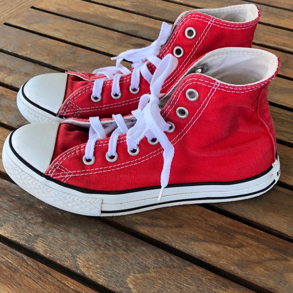 901bbf0d9a35 Converse Other - Converse red high top shoes size 2(big kids)